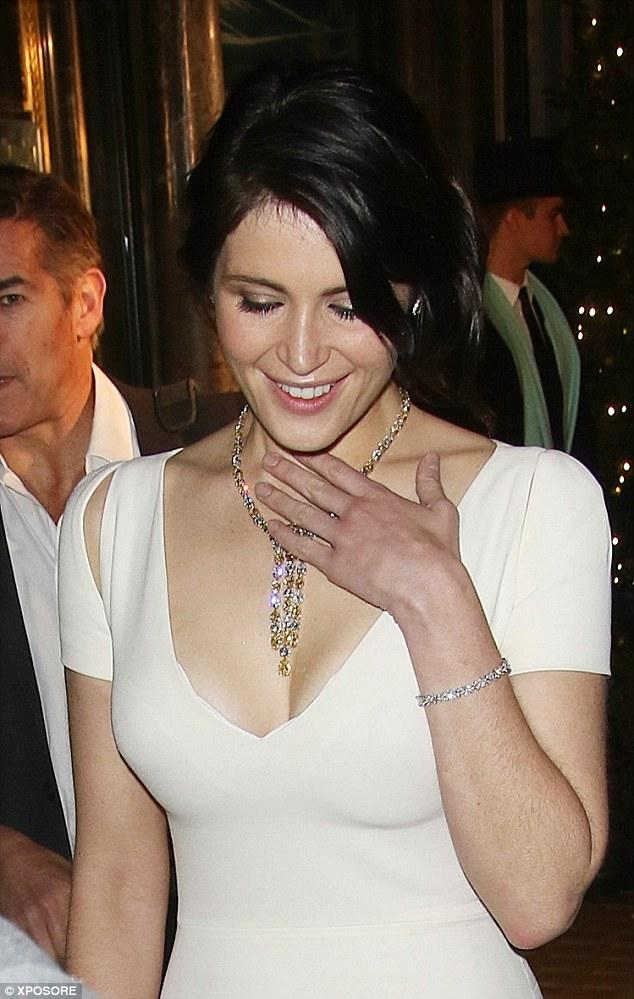 Gemma Arterton In Floor-length Gown As She Unveiled The Tiffany