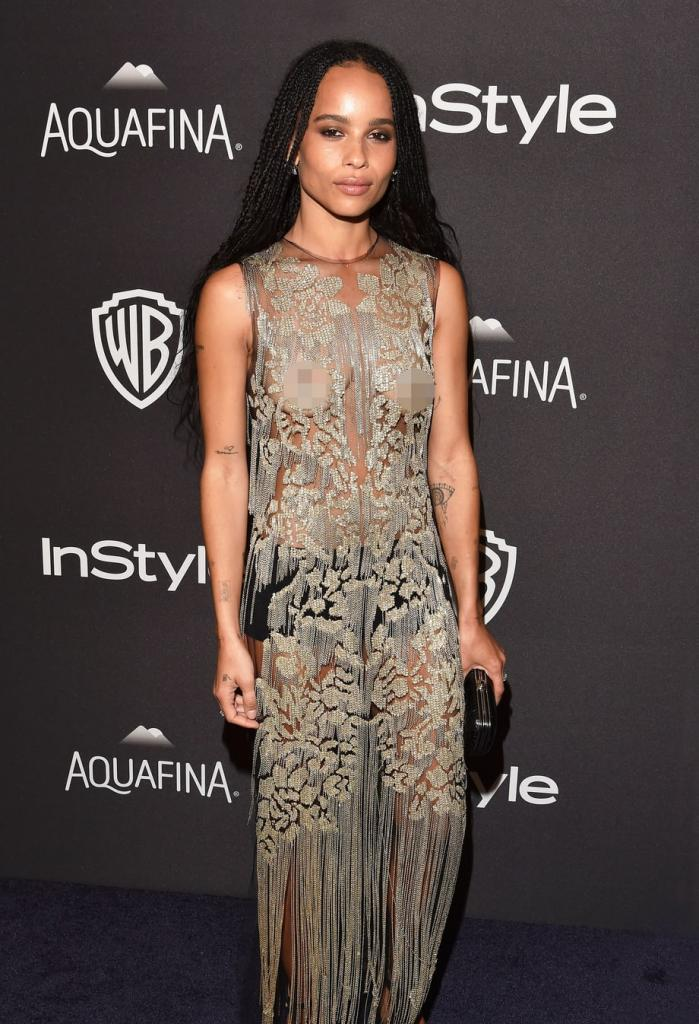 Golden Globes 2016 Afterparty: Zoe Kravitz Flashes Nipples - Us Weekly