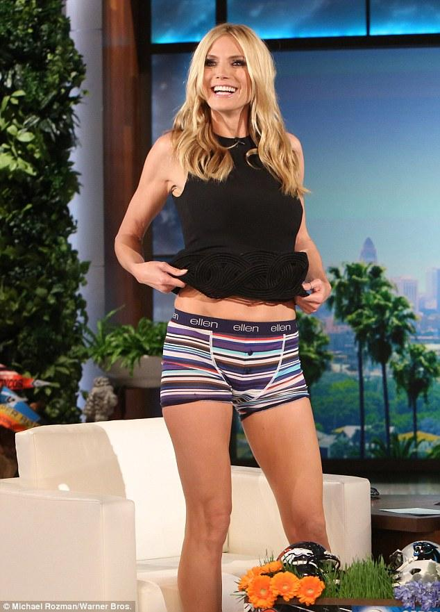 Heidi Klum Flashes Her Pants On The Ellen DeGeneres Show   Daily