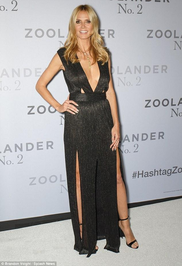 Heidi Klum Takes The Plunge At Fan Screening Of Zoolander 2   Daily