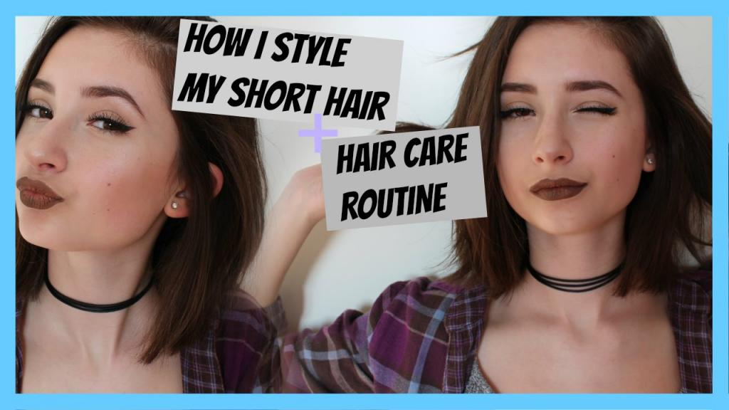 HOW I STYLE MY SHORT HAIR + HAIR CARE ROUTINE - YouTube