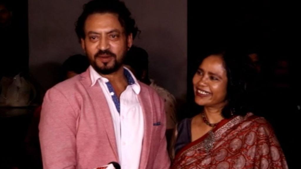 Irrfan Khan With His Wife & Producer Sutapa Sikdar At Madaari