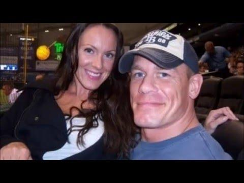 John Cena With His Ex Wife Elizabeth Huberdeau And His