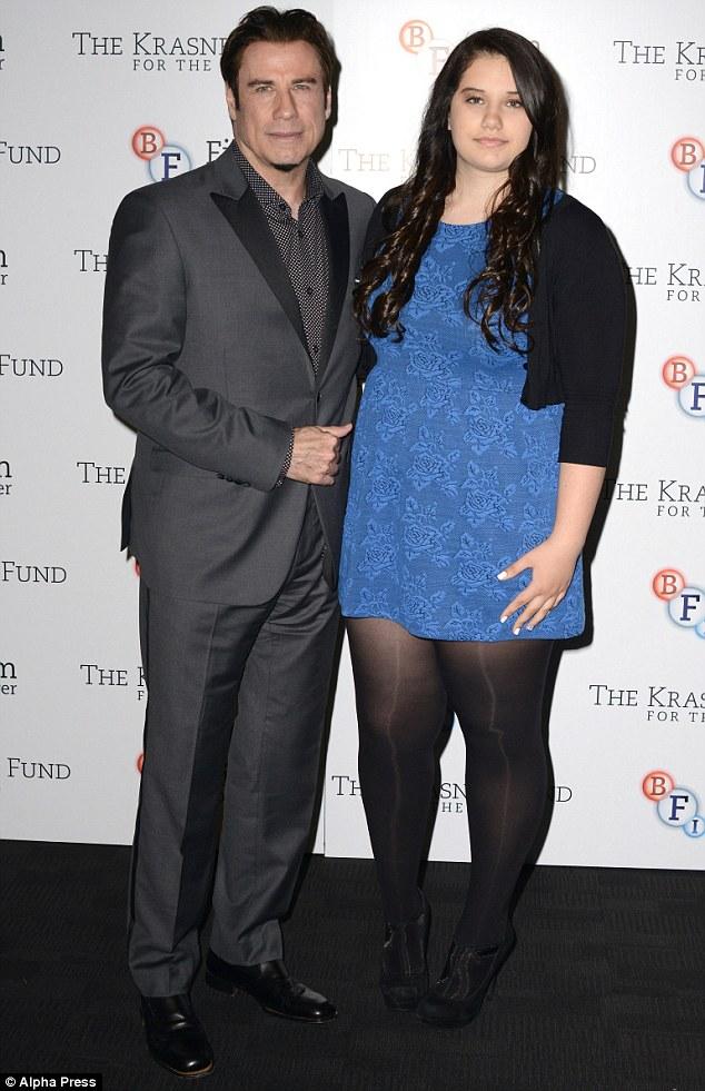 John Travolta Shows Off Daughter Ella Bleu And His Goatee Beard On