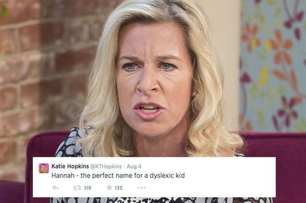 Katie Hopkins Slammed For Linking Children's Names To Disabilities