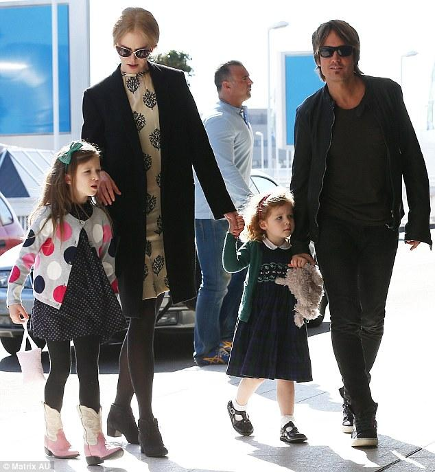 Keith Urban's Daughter Sunday Rose Sports Western Style Boots In