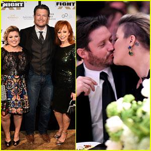 Kelly Clarkson & Her Hubby Like To Kiss, Not 'Fight