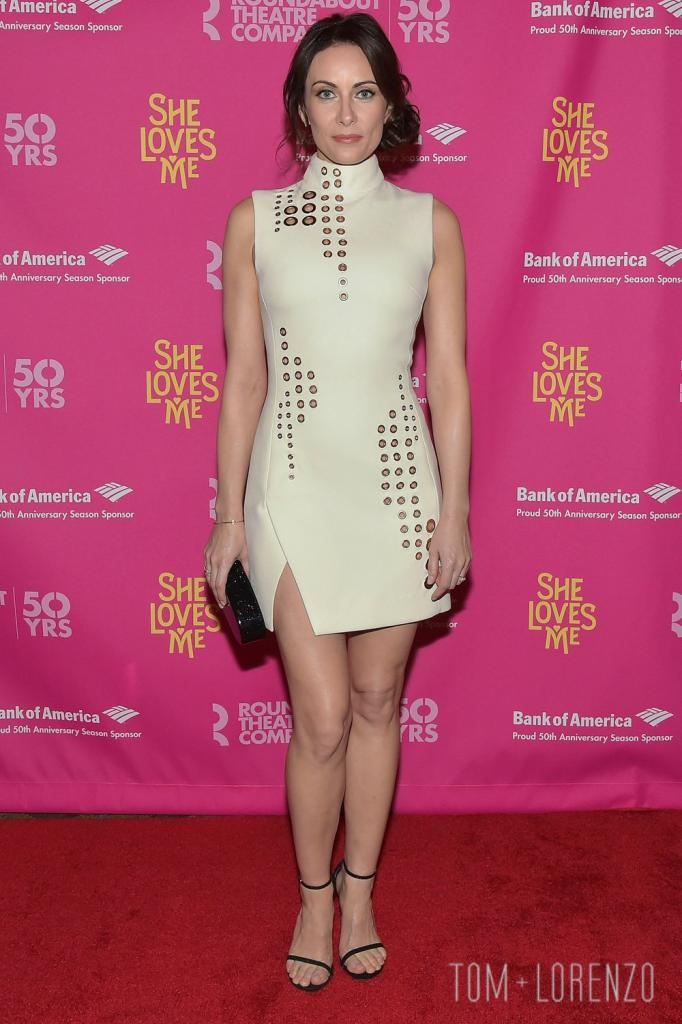 "Laura Benanti In Mugler At The ""She Loves Me"" Opening Night   Tom +"