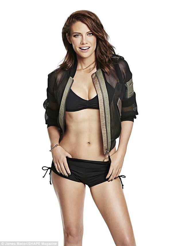 Lauren Cohan Models Fantastic Bikini Body On The Cover Of Shape