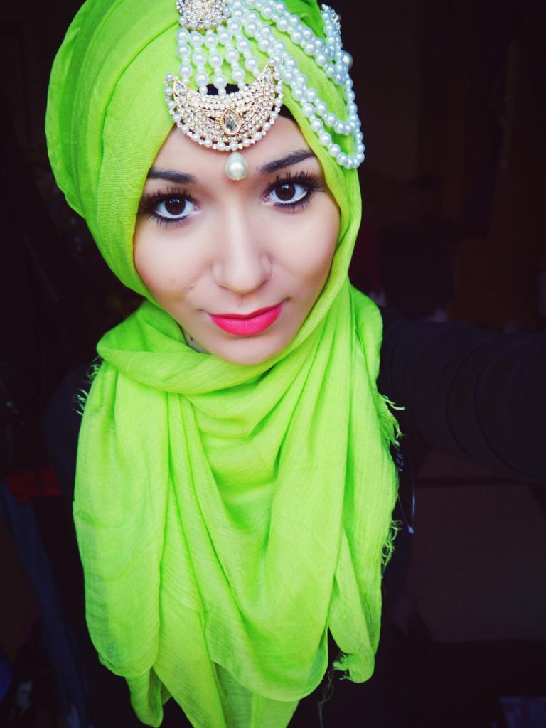 Lime Jewels : Occasional Hijab Look - NABIILABEE