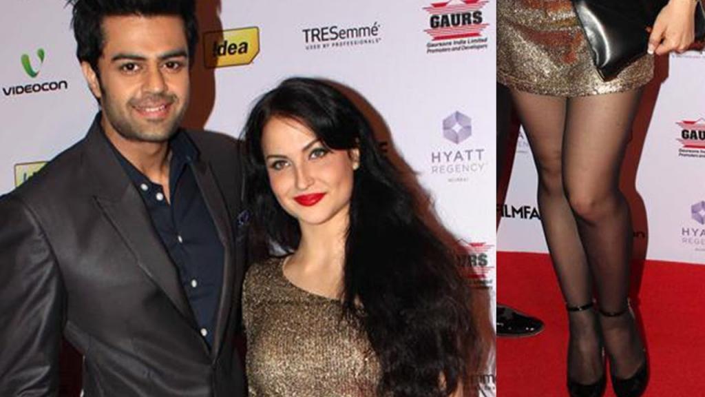 Manish Paul With Elli Avram At Filmfare Party - YouTube