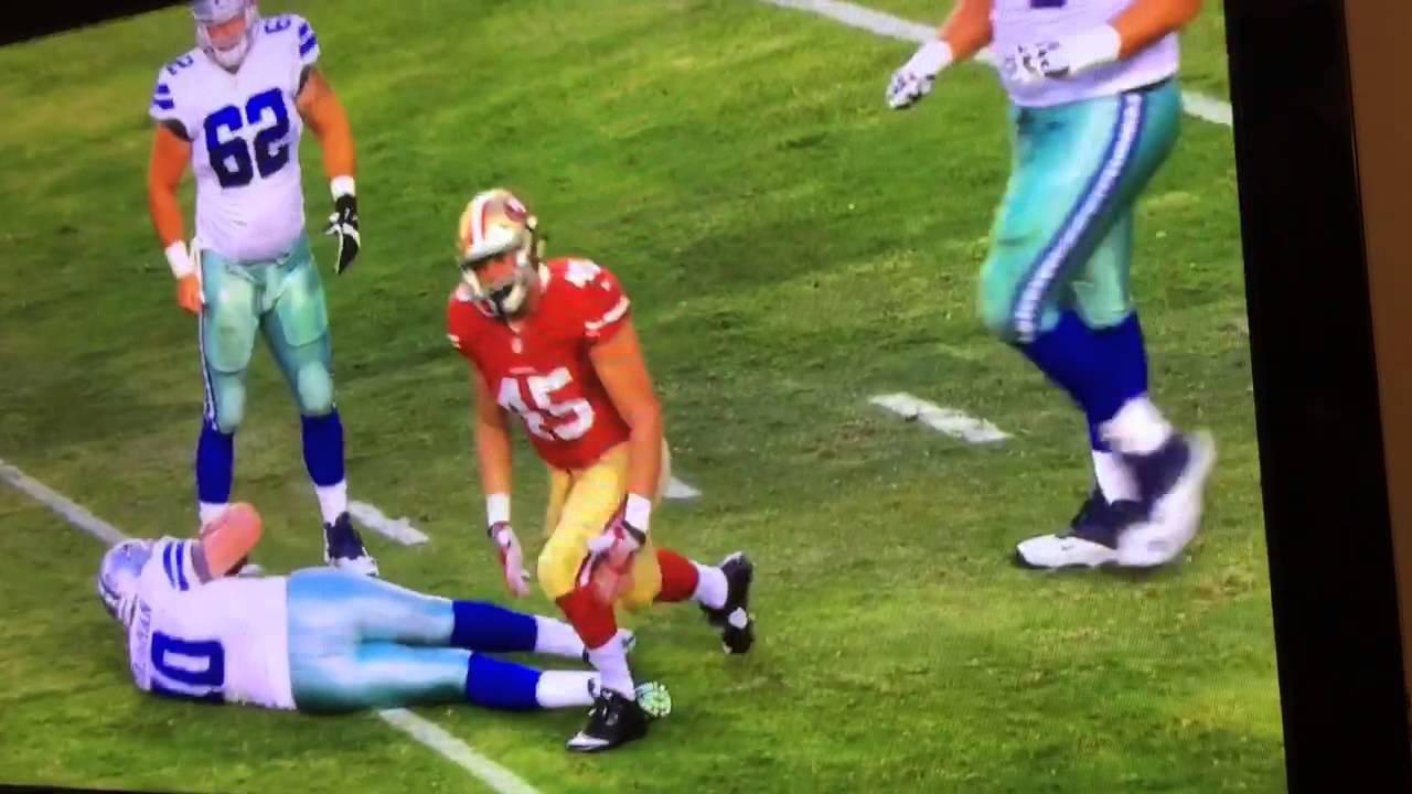 Marcus Rush 49ers LB First NFL Sack (8.23.15) - YouTube