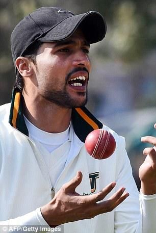 Mohammad Aamer Pictured Bowling During Return To Cricket After Spot
