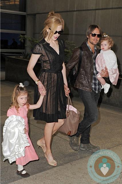 Nicole Kidman And Keith Urban With Daughters Sunday Rose & Faith