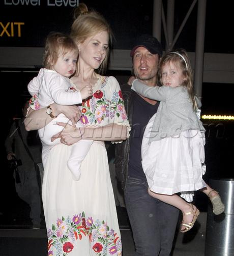 Nicole Kidman, Keith Urban And Their Darling Daughters Jet Off To