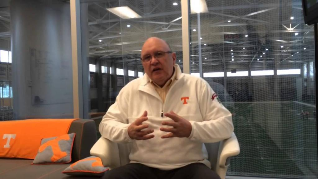 Offensive Coordinator Mike DeBord Discusses His New Offense - YouTube