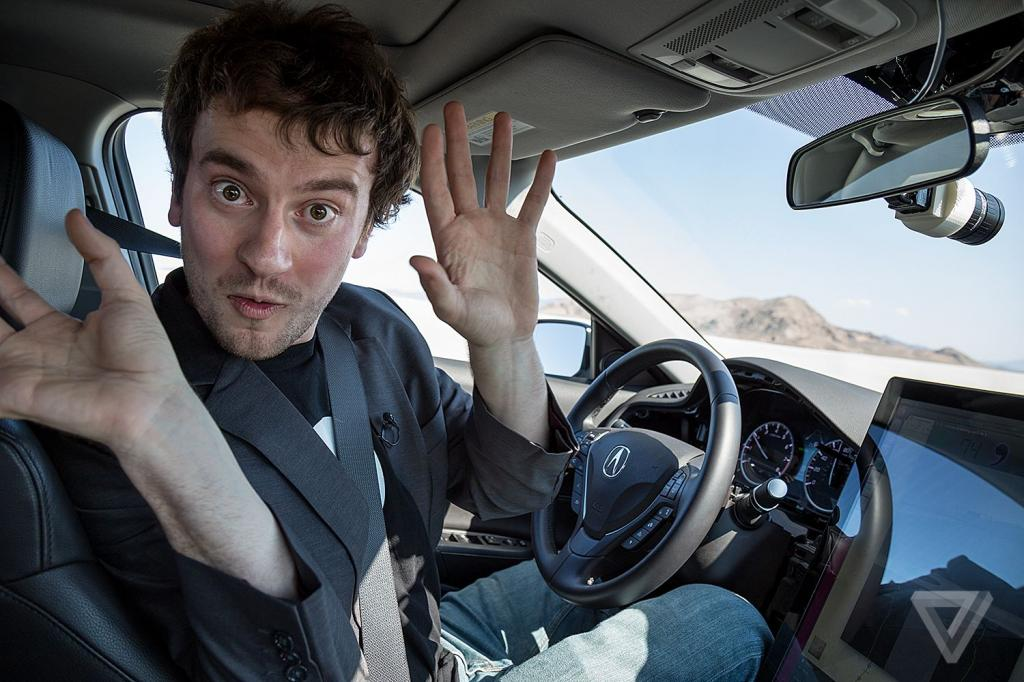 On The Road With George Hotz's $1,000 Self-driving Car Kit   The Verge