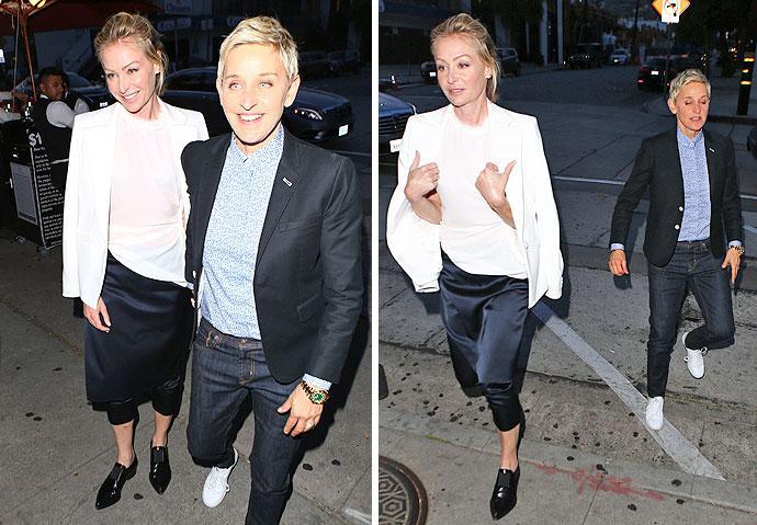 Portia De Rossi And Ellen DeGeneres Have A Date Night In Matching