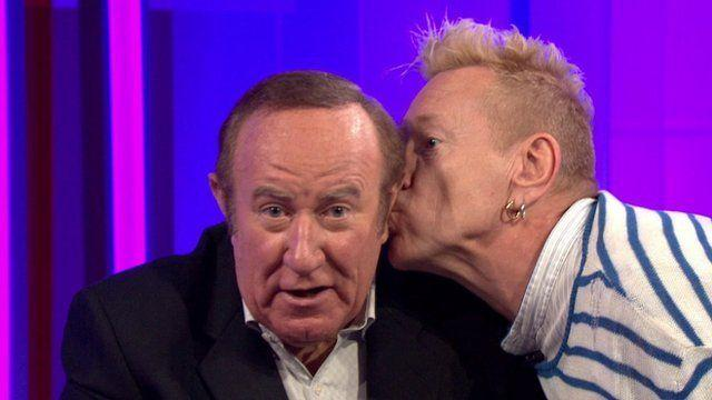 Punk Veteran John Lydon Kisses Andrew Neil On TV - BBC News