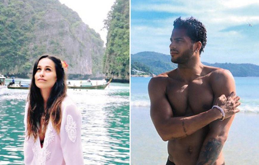 Rita Pereira E Guillaume Lalung Passam F  Rias Na Tail  Ndia - Caras