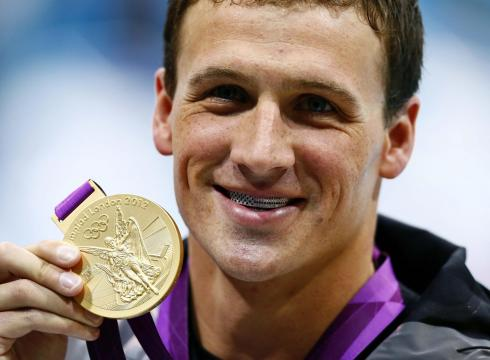 Ryan Lochte's Post-race Grill Shines With Stars And Stripes