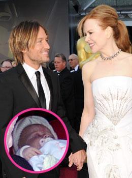 See A New Photo Of Nicole Kidman And Keith Urban's New Baby Faith
