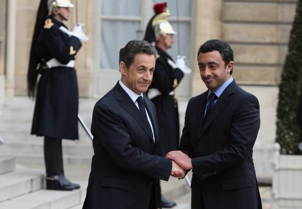 Sheikh Abdullah Bin Zayed Al Nahyan In President Nicolas Sarkozy
