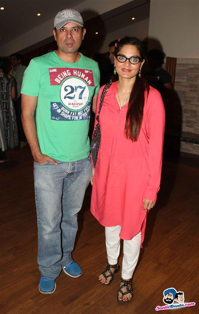 Stars Spotted 2013 -- Atul Agnihotri And Alvira Khan At Terrence