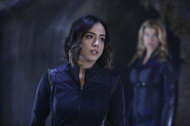Still of Adrianne Palicki and Chloe Bennet in Agents of S.H.