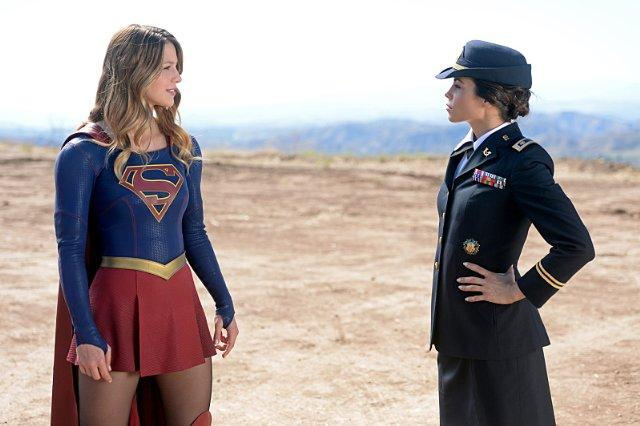 Still of Jenna Dewan Tatum and Melissa Benoist in Supergirl