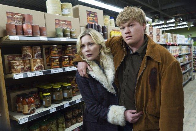 Still of Kirsten Dunst and Jesse Plemons in Fargo (2014)