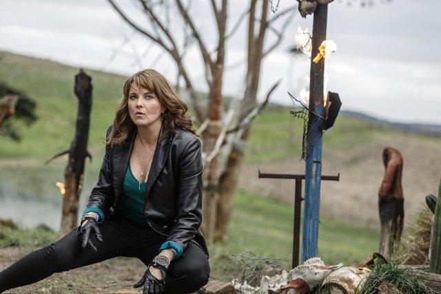 Still of Lucy Lawless in Ash vs Evil Dead (2015)