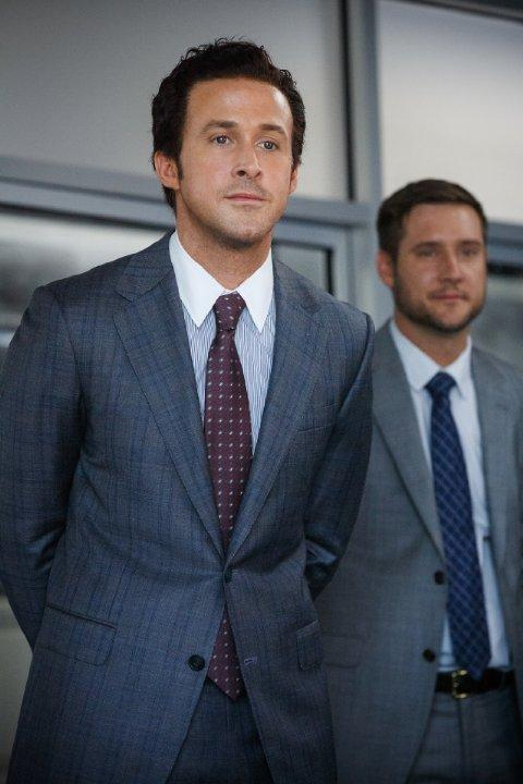 Still of Ryan Gosling and Jeffry Griffin in The Big Short (2