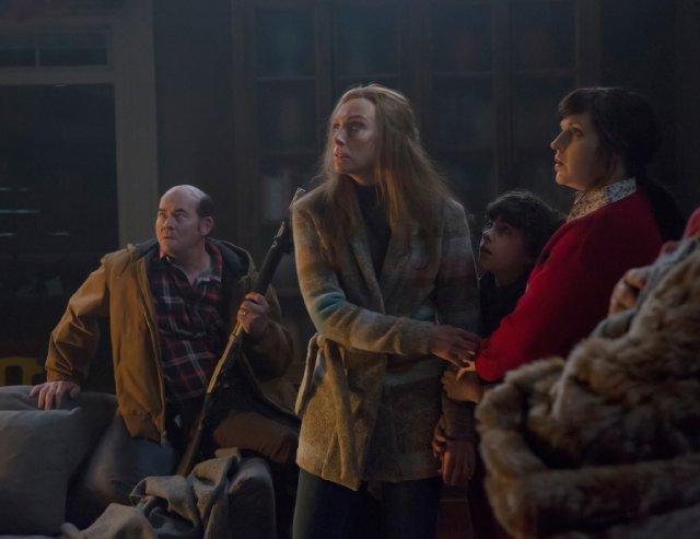 Still of Toni Collette, David Koechner, Allison Tolman and E
