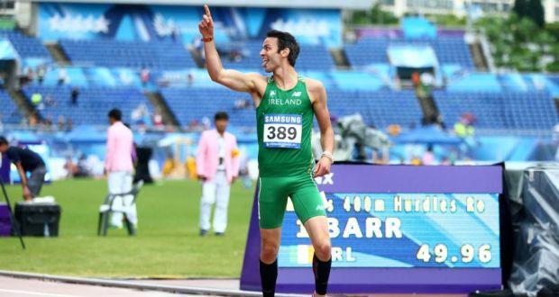 Thomas Barr Wins 400 Metres Hurdle At World University Games
