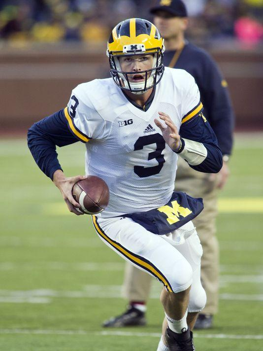 U-M's Wilton Speight Shows Confidence He Didn't Have Last Year