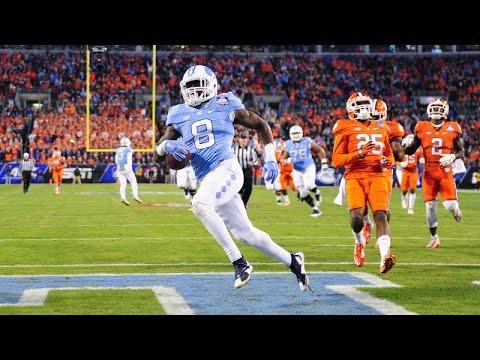 UNC Football: T.J. Logan Scores 1st Career TD Catch Vs. Clemson