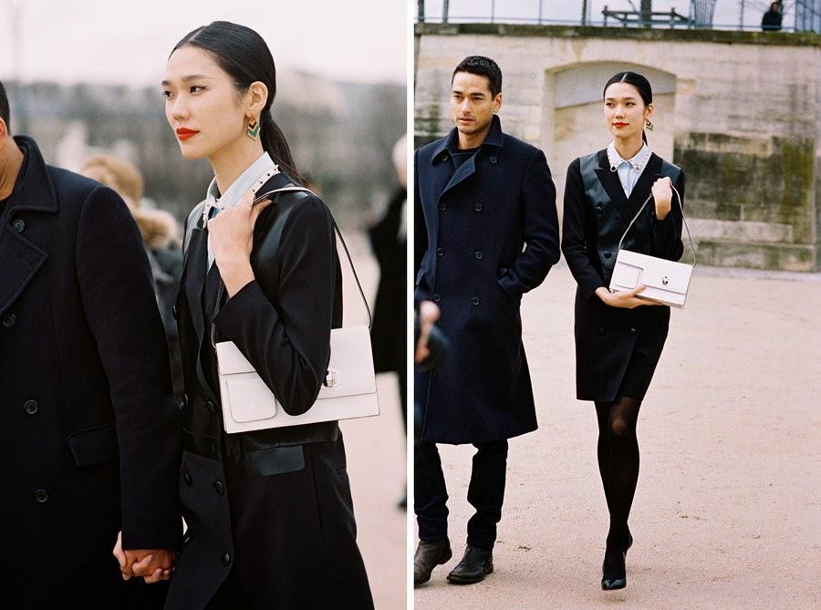 Vanessa Jackman: Paris Fashion Week AW 2014Tuxedo Dress