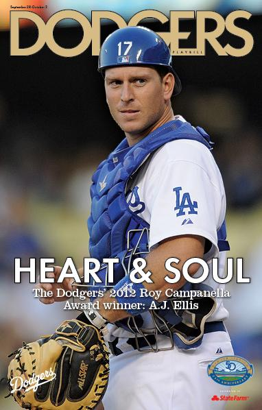 VIN SCULLY IS MY HOMEBOY: Dodgers Playbill - A.J. Ellis