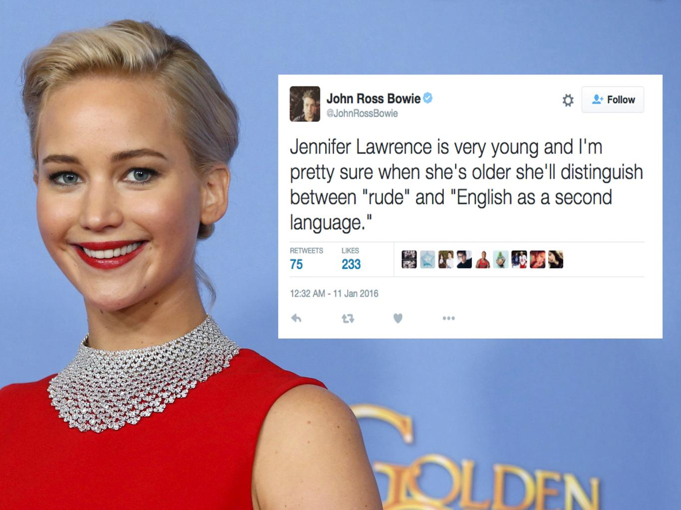 Was Jennifer Lawrence Rude To A Reporter At The Golden