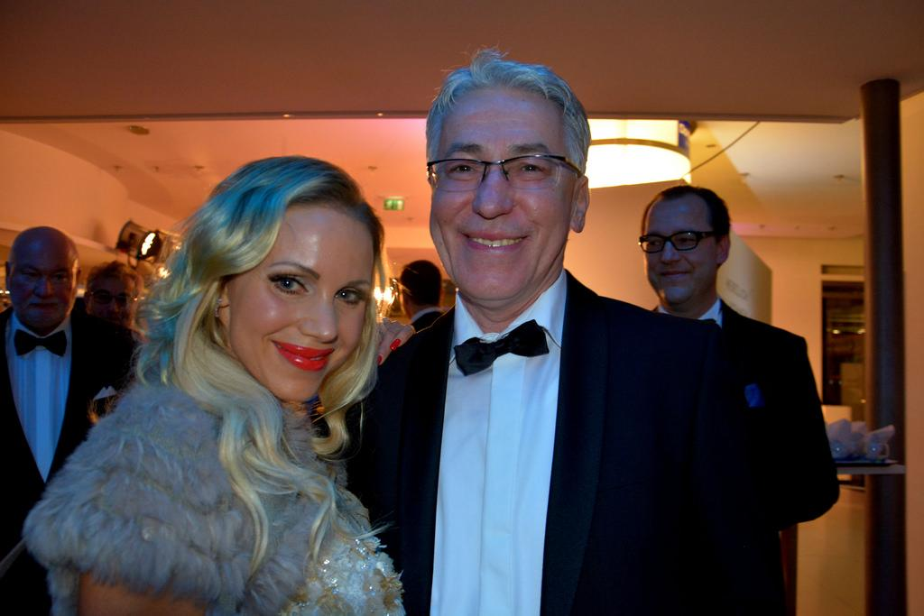 Theodor Semmelhaack and Annina Ucatis in a party photos