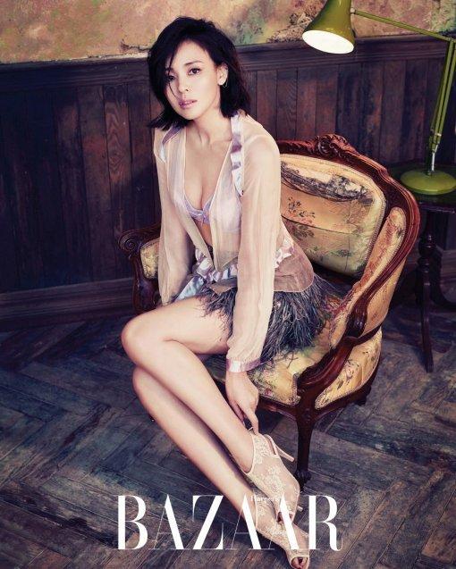 Yano Shiho Poses In Her First Lingerie Shoot In Korea For Harper's