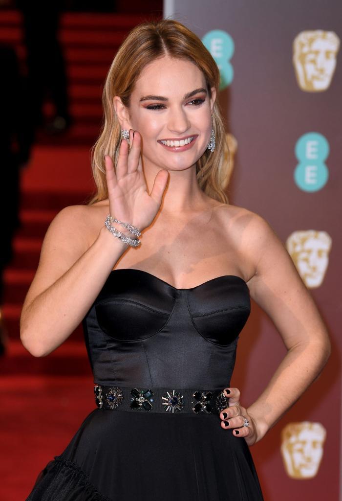 Lily James  2018 British Academy Film Awards  CelebMafia