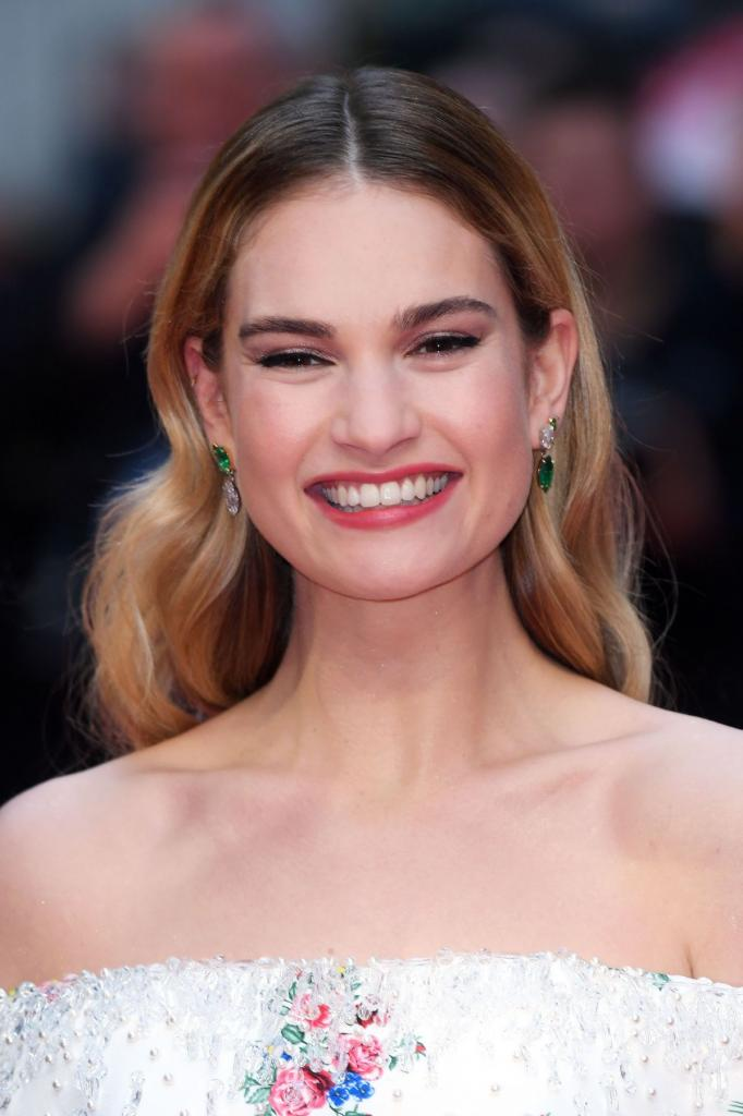 LILY JAMES at The Guernsey Literary and Potato Peel Pie
