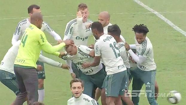 Roger Guedes N O Paga Aposta, Leva Trote Durante Treino Do Palmeiras