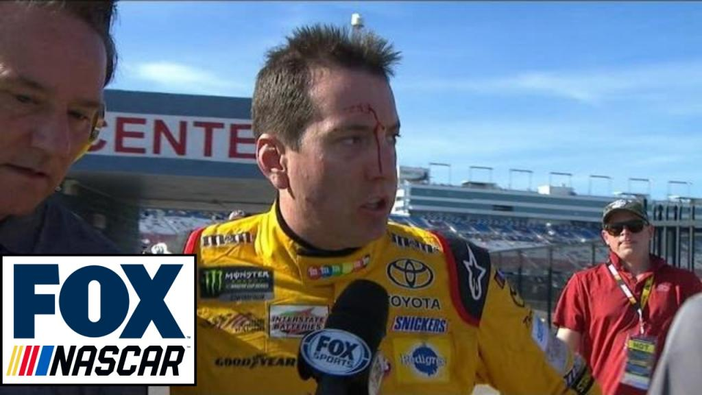 Kyle Busch Not Happy With Logano After Race 2017 LAS VEGAS FOX
