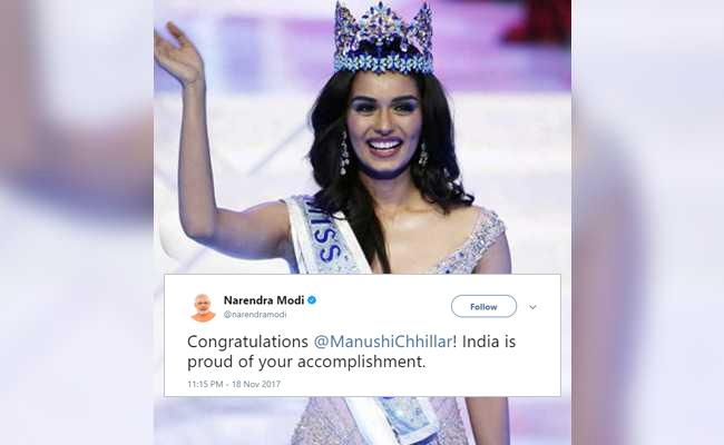 Miss World 2017: Manushi Chhillar Crowned Miss World 2017. Wishes