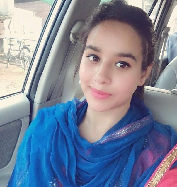 Sunanda Sharma Sitting In Car