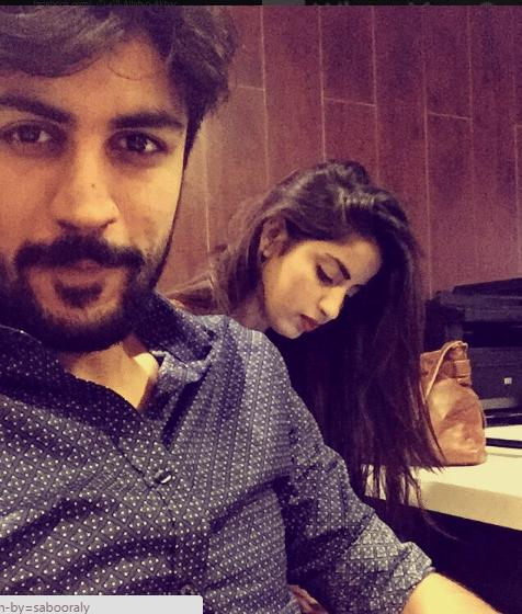 Saboor Ali Recent Pictures With Her Fiiance Pakistani Drama