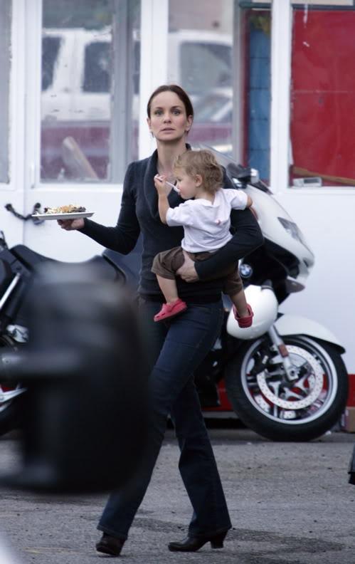 Sarah Wayne Callies with her daughter Keala Winterhalt